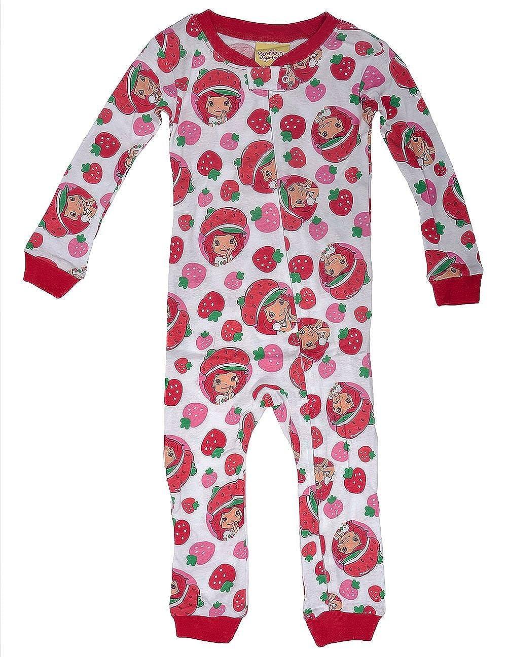 c112679f77 Amazon.com  AME Strawberry Shortcake Toddler Girl s Cotton Footless Pajama  Sleeper (4T)  Clothing