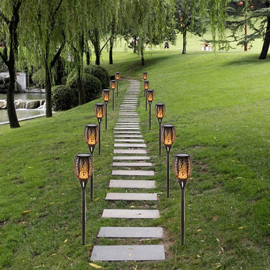YunZyun Led Light,2 Pieces Of Outdoor Waterproof Intelligent Light Control Outdoor Courtyard Solar Light Plug Light Lawn Light