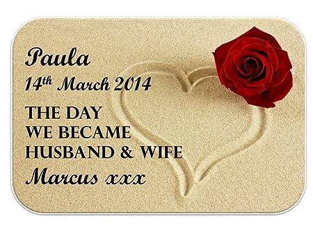 Auguri Alla Moglie Per Anniversario Di Matrimonio.Biglietto Di Auguri Personalizzato Marito E Moglie Miniature