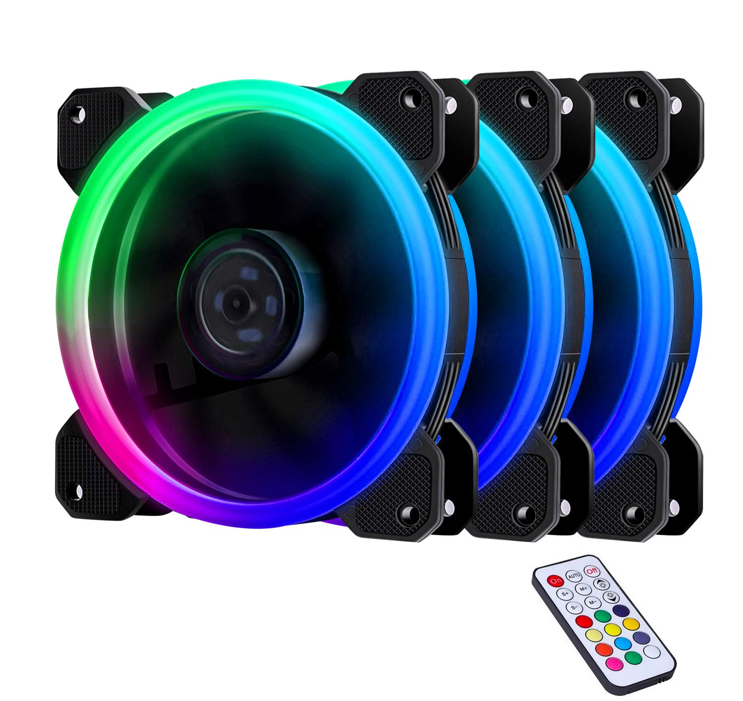 Ezdiy Fab 3 Pack Wireless Rgb Led 120mm Case Fanquiet Hydraulic Power Wiring Diagram Edition High Airflow Adjustable Color Fan For Pc Cases Cpu Coolersradiators