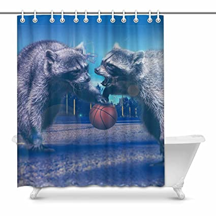 Image Unavailable Not Available For Color InterestPrint Shower Curtains Basketball