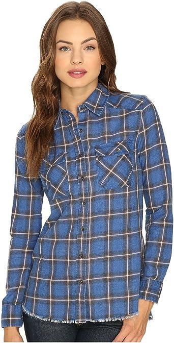 Billabong Juniors Camisa de franela a cuadros con bolsillos frontales - Azul - Small: Amazon.es: Ropa y accesorios