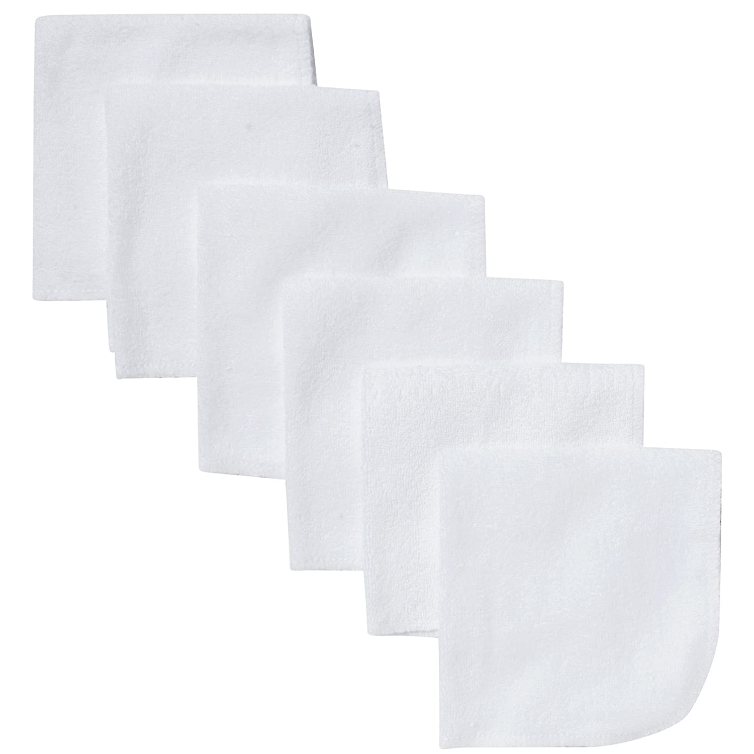 Gerber 6 Count Washcloth, White