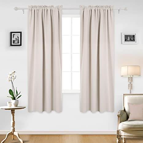 curtains for office. Deconovo Fashionable Rod Pocket Blackout Curtains Room Darkening  Window Treatments Shade For Office 52W Curtains Office