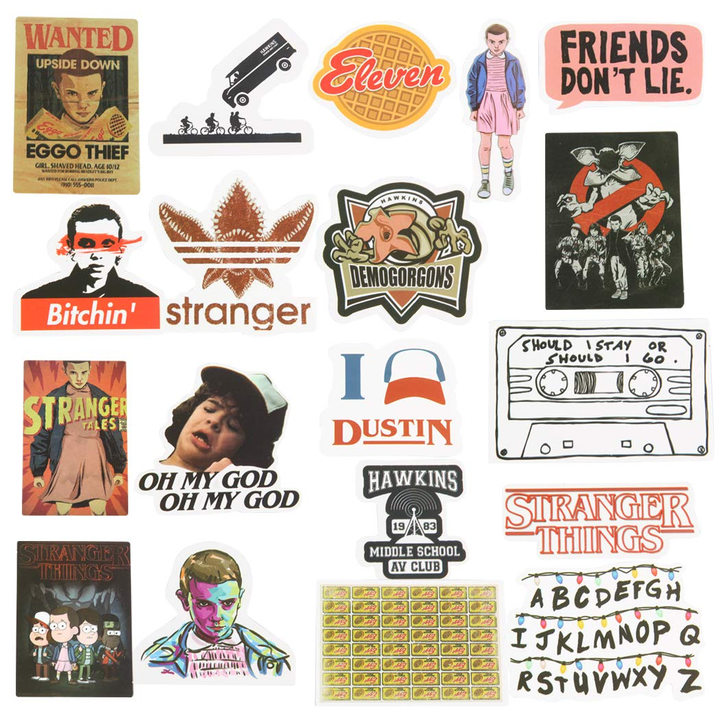 Stickers Calcos 18 Un. Stranger Things (7ppsyk1g)