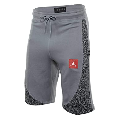 40edab71d88 Nike Men's Jordan Retro 3 Wings Lite Fleece Shorts (Stealth Grey/Black,  Small