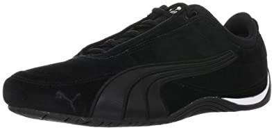 98bda7f894272d Puma Drift Cat 4 Suede Low Top Unisex-Adult Black Schwarz (black silver 05