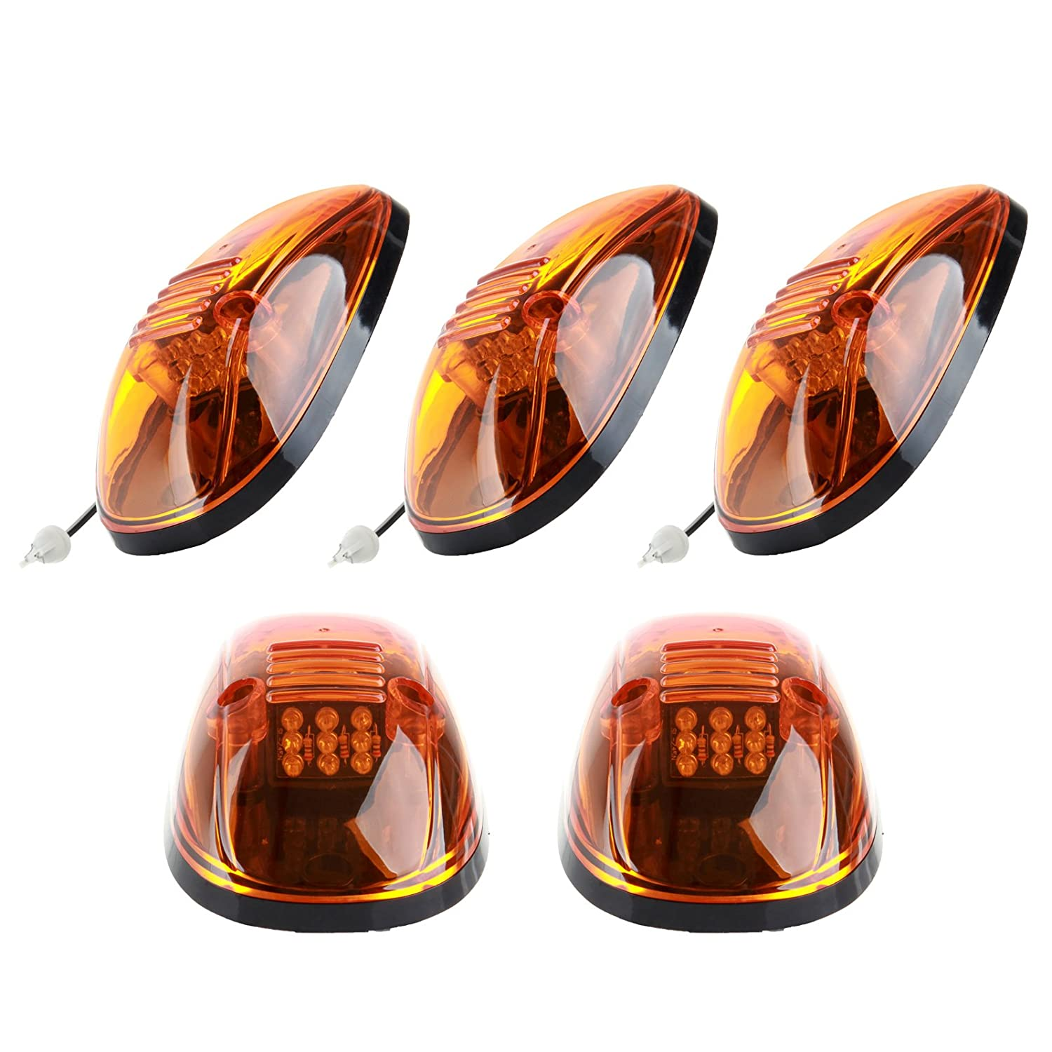 Ccicciyu 5 Pack Amber Cab Roof Marker Clearance Light Lamp Wiring Harness Covers For 1999 2002 Dodge