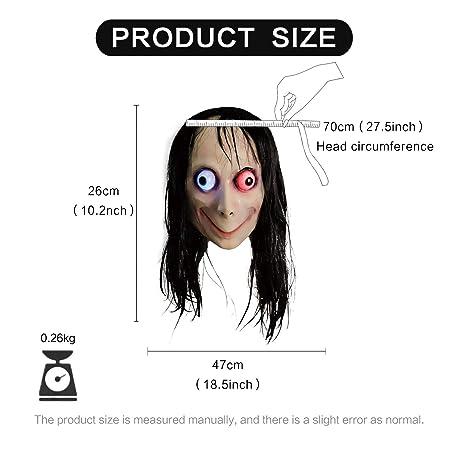 molezu Momo LED Máscaras de látex, Halloween y Navidad ...