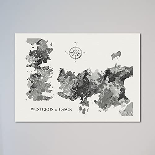 image regarding Printable Map of Westeros named : Video game Of Thrones Map Westeros Essos Print: Do-it-yourself