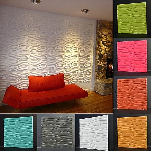 Kebidu 100 3D Wand Paneele Brick, 3D Muster Tapete Für Wohnzimmer,  Schlafzimmer Dekoration,