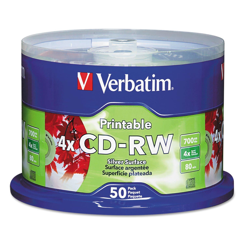 VERBATIM CORPORATION 95159 50PK CDRW 2X-4X 700MB 80MIN