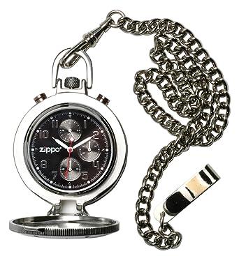 Zippo 45021 - Reloj de bolsillo para hombres color negro: Amazon.es: Relojes