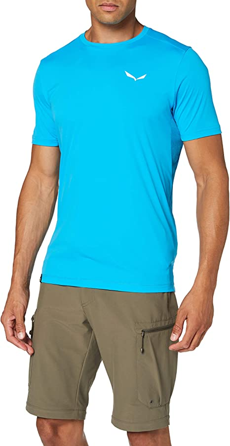 Salewa Herren Camou Box Dry M S//S Tee Blusen /& T-Shirts