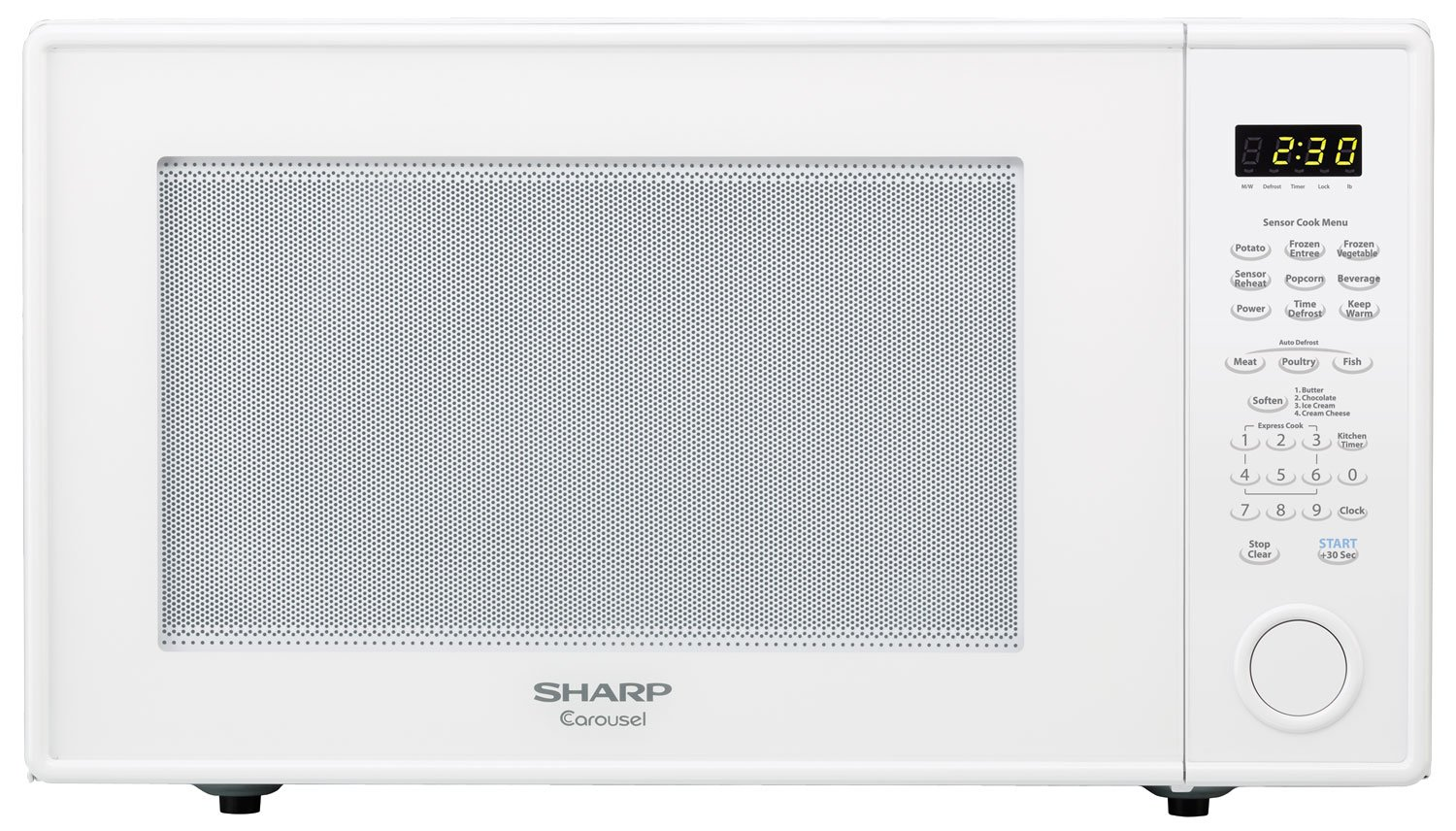 Sharp Countertop Microwave Oven ZR659YW 2.2 cu. ft. 1200W White with Sensor Cooking