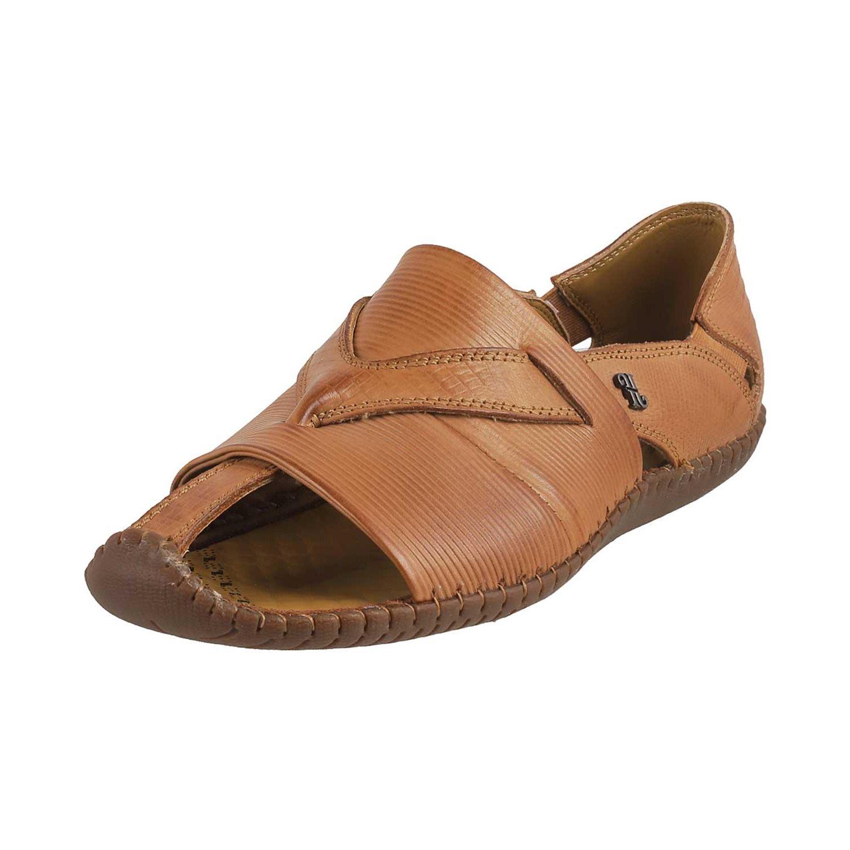 Mochi J.Fontini Men Tan Leather Sandals
