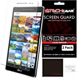 TECHGEAR [Pack of 2] Screen Protectors for Asus ZenPad 8.0 (Z380C / Z380M) - Clear Lcd Screen Protectors With Cleaning Cloth + Application Card