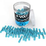 150 PC Blue Heat Shrink Butt Crimp Connectors: 16 14 Gauge Bulk Waterproof Electrical Terminals - Insulated AWG Automotive, Marine, Audio, and Industrial Grade. Hot Melt Adhesive Butt Splice