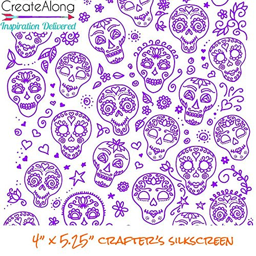 Sugar Skulls Large Silkscreen Stencil for Polymer Clay and Mixed Media