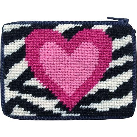 Zebra Corazón Monedero aguja Kit con lana persa: Amazon.es ...