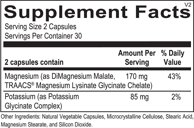 Ortho Molecular Products - Reacted Magnesium & Potassium - 60 Capsules