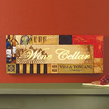 Amazon.com: Lighted Tuscan Wine Cellar Wall Art: Home & Kitchen