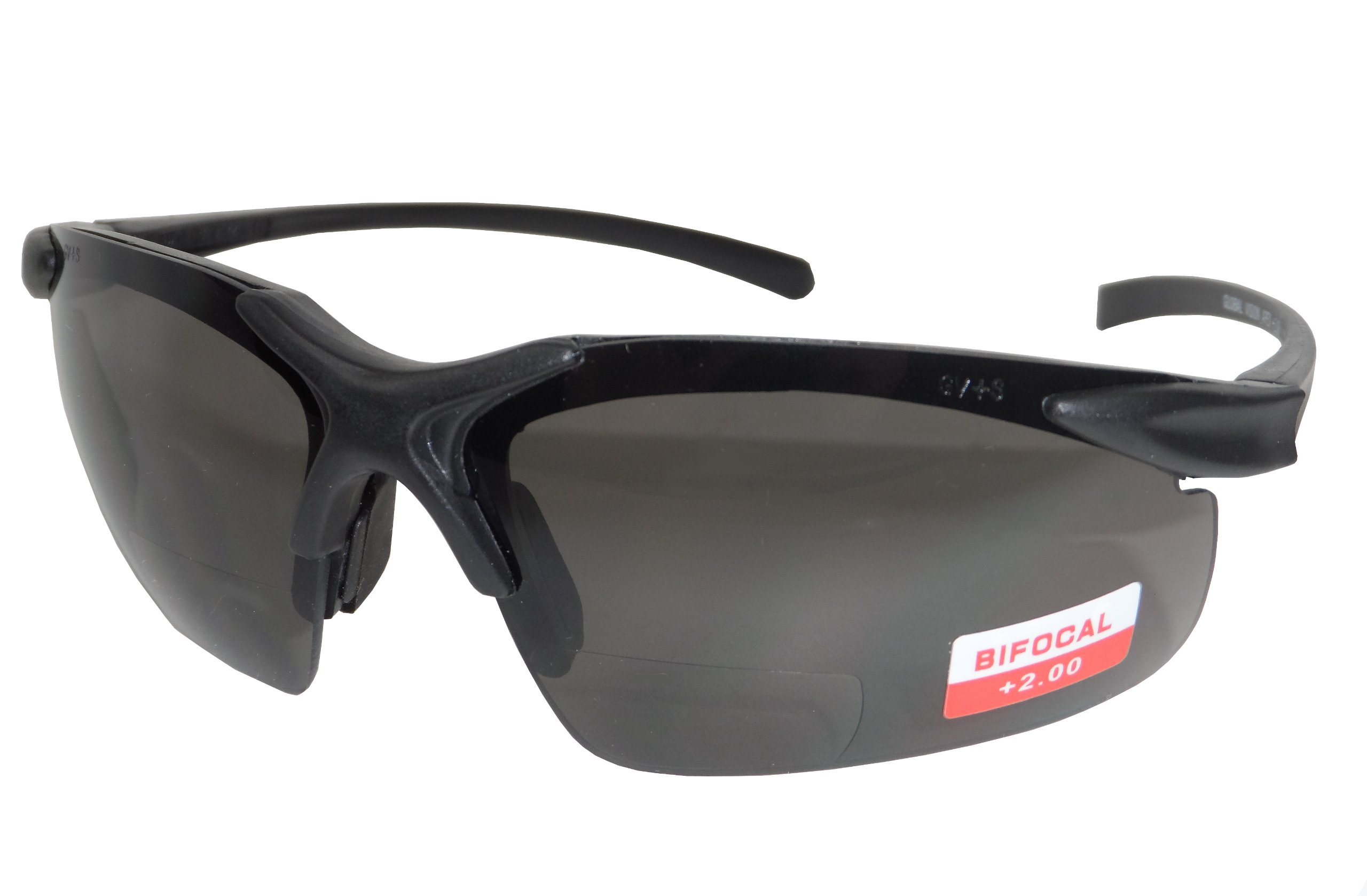 Apex Bifocal Smoke Safety Glasses (2.0 Magnification)