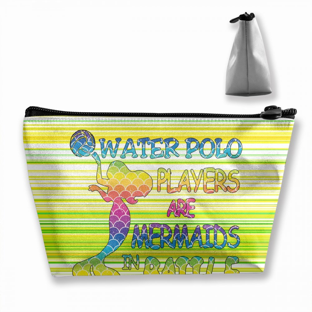 154cf77105d4 Amazon.com  Wodehous Adonis Water Polo Mermaids In Battle Cosmetic Bags  Portable Travel Toiletry Pouch Makeup Organizer Clutch Bag With Zipper ...