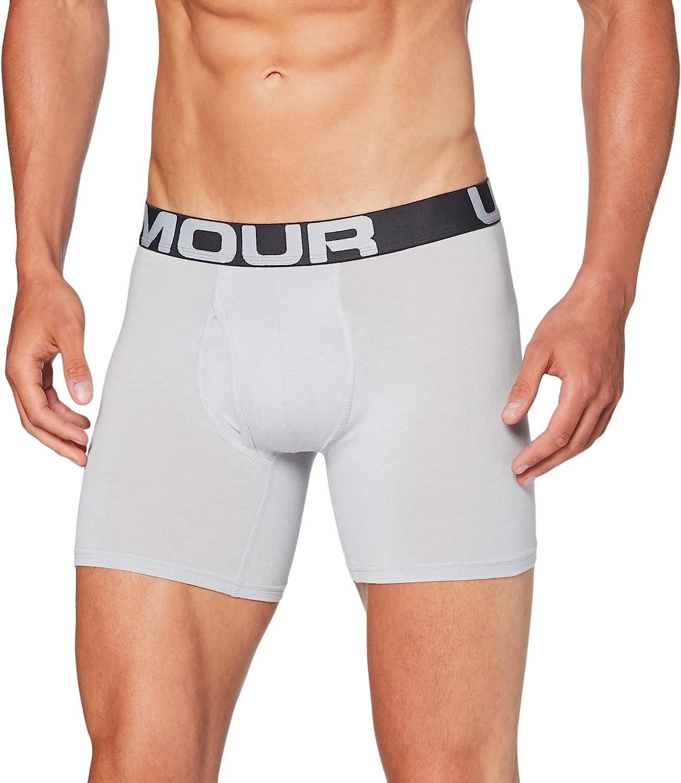 Desventaja Cena Residuos  Amazon.com: Under Armour Charged Men's Cotton Boxerjock 6-inch 3-Pack  Underpants: Clothing