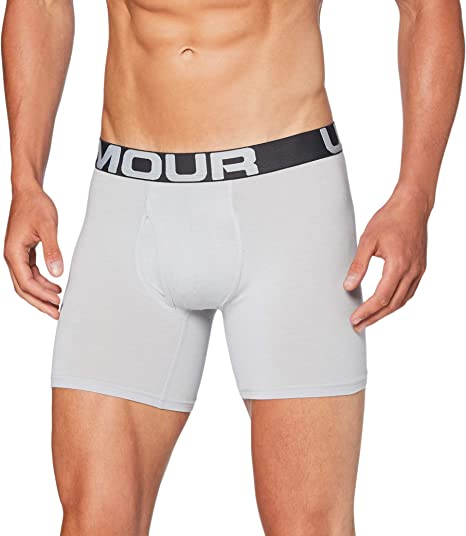Under Armour Mens Charged Cotton 6in 3 Pack Boxer Brief Adult