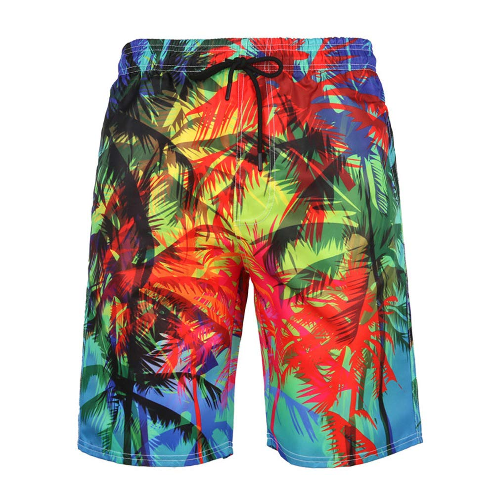 DZH Enjoy Mens Cool Swimtrunks Quick Dry 3D Printed Casual Hawaiian Beach Board Shorts with Pockets