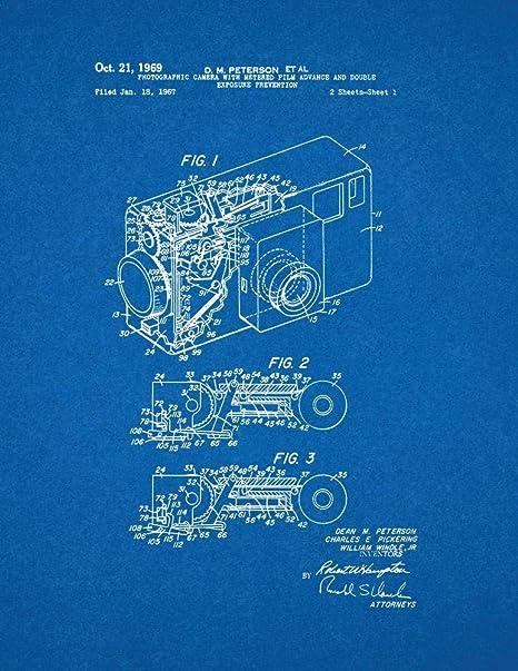 Photographic Camera Patent Print Blueprint