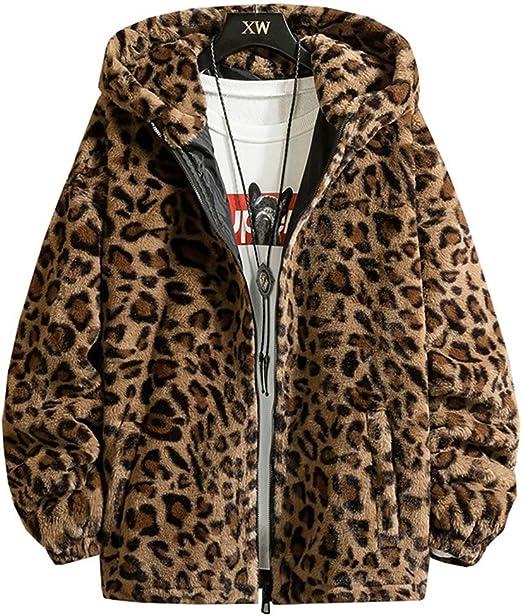 ヒョウ柄 ファーコートメンズ ジャケット ボアコート フリースジャケット あったか ゆったり 韓国風 アウター ストリート系 防寒着 通学 ブルゾン 冬 大きいサイズ
