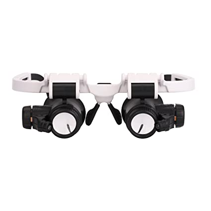 779d3a67f692 Amazon.com  ITODA Head Mount Magnifier with 2 LED Light