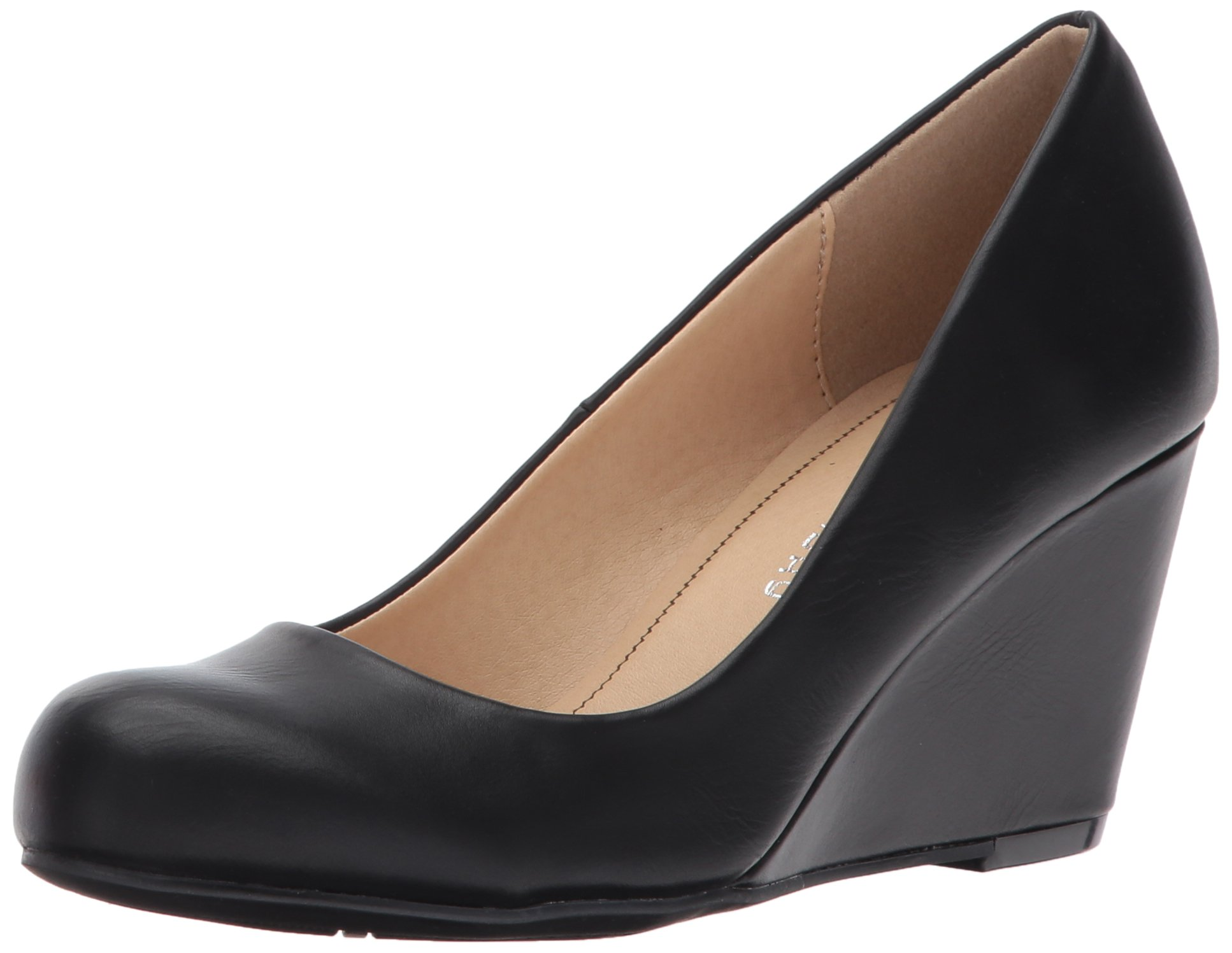 Cl by Chinese Laundry Women's Nima Wedge Pump, Black Smooth, 8 M US