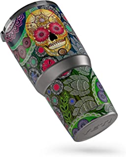 product image for Sugar Skull Paisley Protector Skin Sticker Compatible with Yeti Rambler 30oz Tumbler - Ultra Thin Protective Vinyl Decal wrap Cover