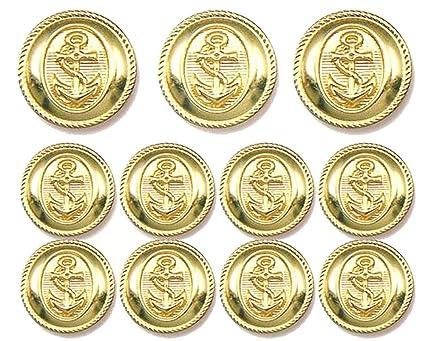 GOLD Premium METAL ~NAVY NAUTICA ANCHOR~ METAL BLAZER BUTTON