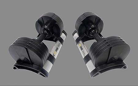 side facing core fitness adjustable dumbbells