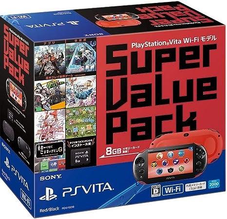 PlayStation Vita Super Value Pack Wi-Fiモデル レッド/ブラック ...