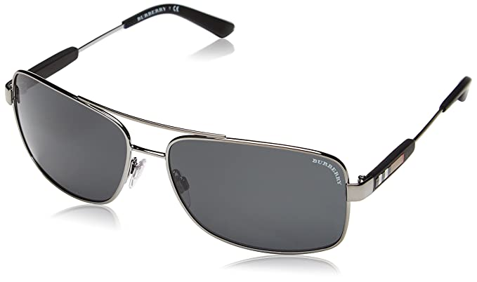 4b02db797ade Amazon.com  Burberry Sunglasses BE 3074 100387 Gunmetal 63mm ...