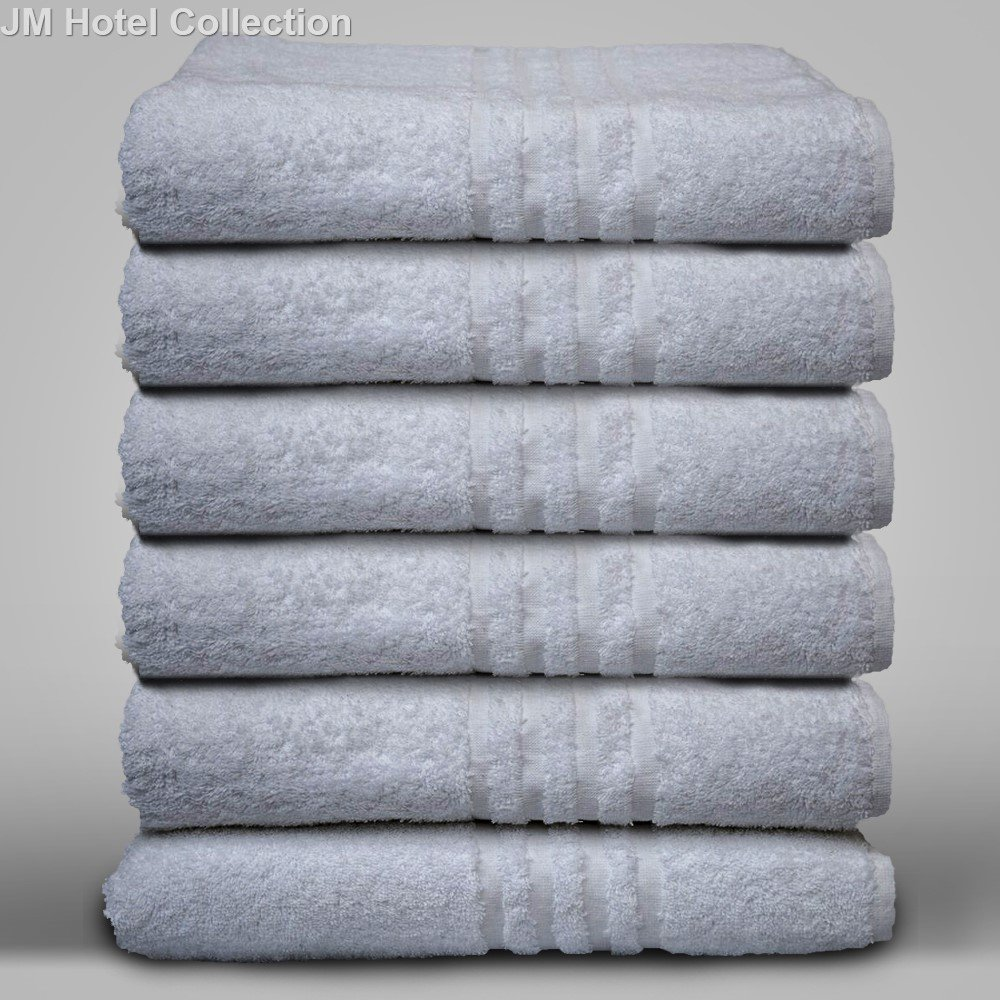 JOHN MERCER Finest Combed Hotel Towels Range, High Quality,100% Cotton, 500 GSM 6 Pieces Bath Towels W70 x L140cm (6 x Bath Towels)