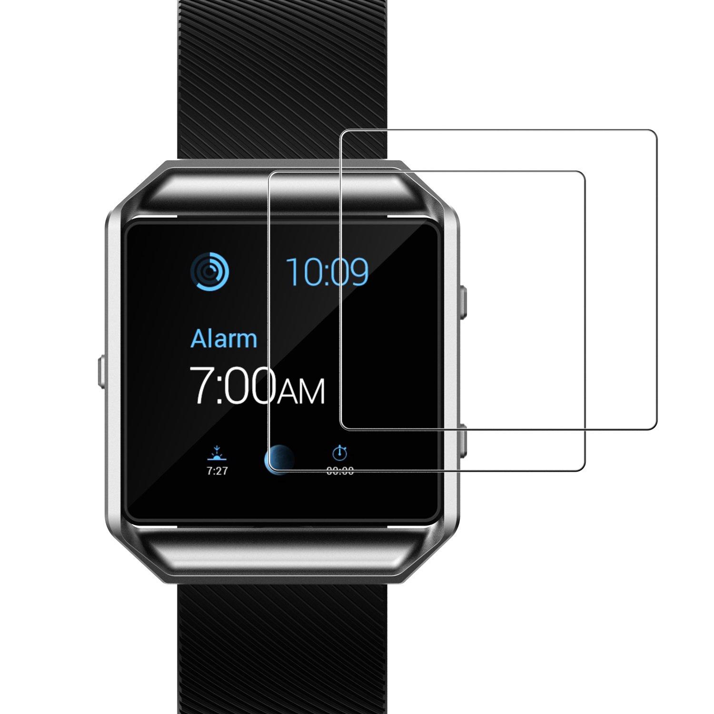 Fitbit Blaze Screen Protector, JETech 2-Pack Premium Tempered Glass Screen Protector for Fitbit Blaze Smart Watch - 0940