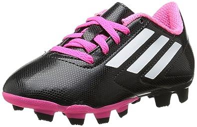 321590c84 adidas Kids Conquisto Fg Black White Solar Pink Soccer Shoes - 3Y