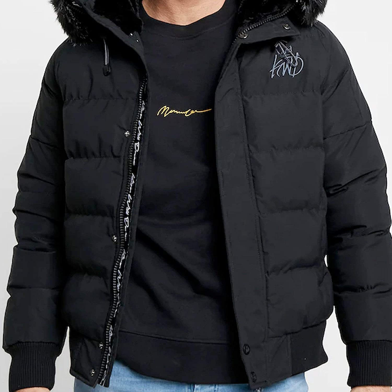 Kings Will Dream Juniors Boys Branton Padded Jacket Black