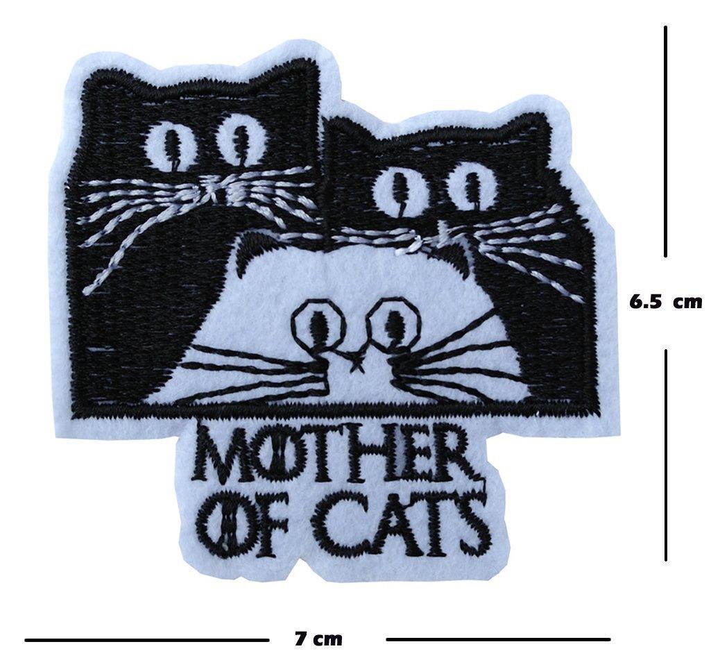 Madre de gatos diseño de bordado parche hierro en o coser en bordado Got transferencia amante de tigre, multicolor: Amazon.es: Hogar