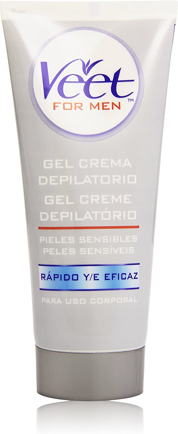 Veet for Men Crema Depilatoria para hombre - Piel Sensible 200 ml ...