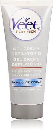 Veet for Men Crema Depilatoria para hombre - Piel Sensible 200 ml ...