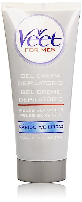Veet for Men Crema Depilatoria Piel Sensible 200 ml: Amazon.es: Salud y cuidado personal