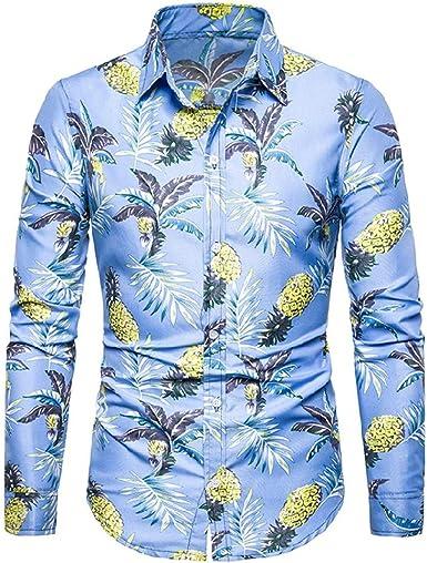 SXZG Camisa de Manga Larga con Estampado Floral Informal de ...