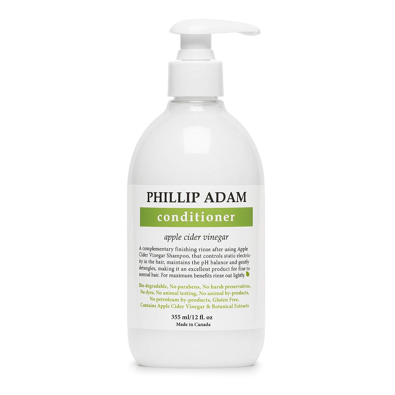 Phillip Adam Apple Cider Vinegar Conditioner for Shiny Hair - No Harsh Preservatives - For All Hair Types - 12 Ounce